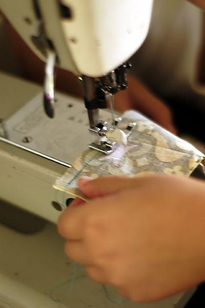 Olivia sews