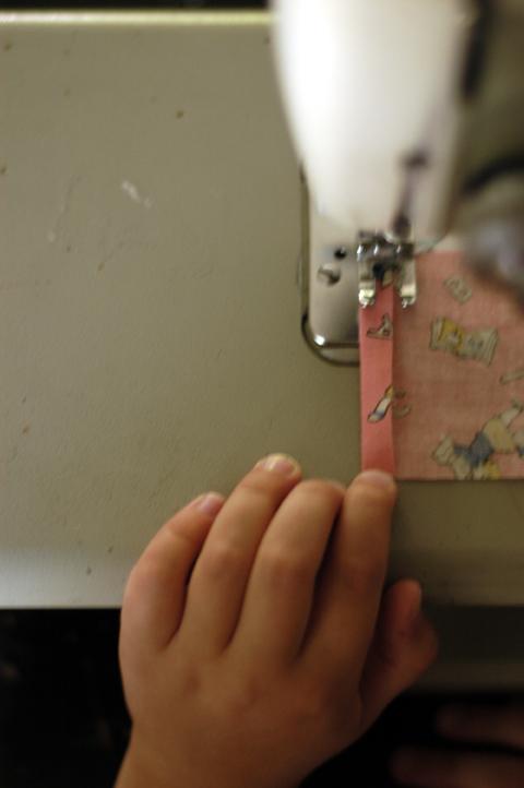Olivia sews 4