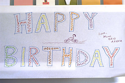 Birthday sign web