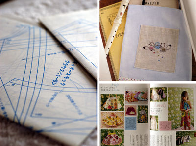 Pattern book collage