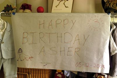 Asher 3rd birthday