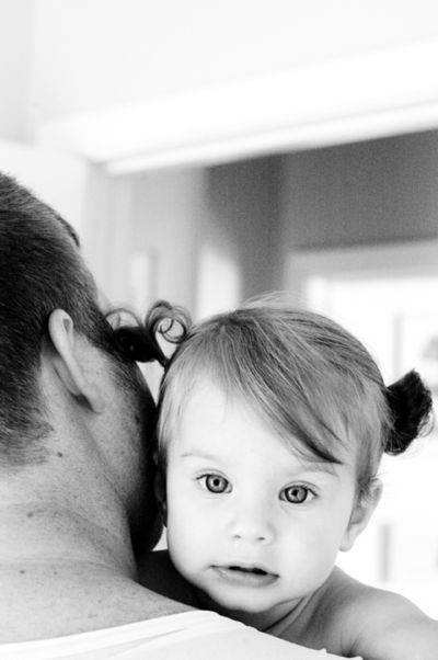Scout father's day pigtails2 b&w web