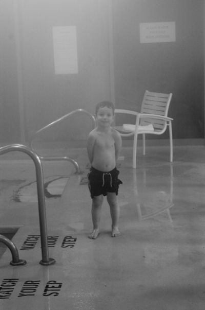 Asher swims